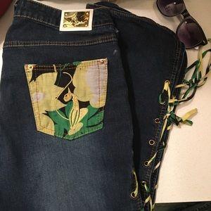 Vintage, Baby Phat Crop Jeans, Sz 9